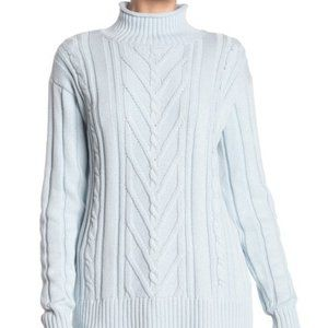NEW J. Crew Mock Neck Cable Knit Sweater